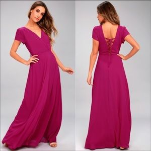 Lulus World On A String Lace-Up Maxi Dress